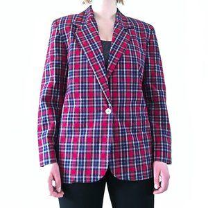A Tartan pattern blazer